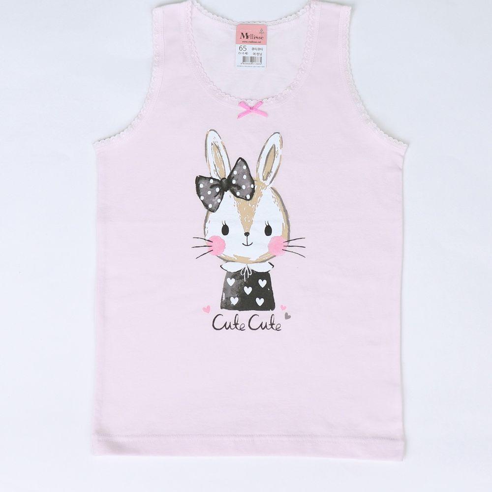 韓國 Mellisse - 純棉小背心(女寶)-可愛兔兔