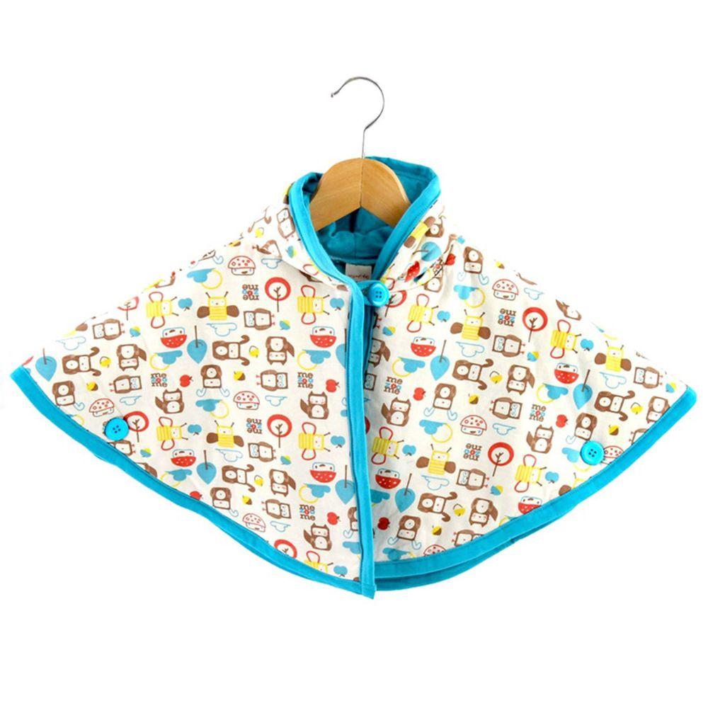 以色列 mezoome - 有機棉精品床寢-斗篷 (保暖外套)-土耳其藍-1-4Y