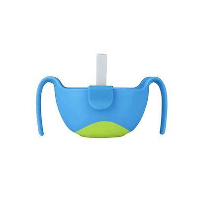 專利吸管三用碗-海洋藍