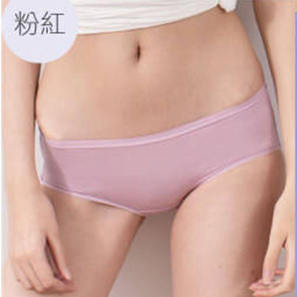 貝柔 Peilou - 天絲棉舒膚平衡女三角內褲-低腰-粉紅