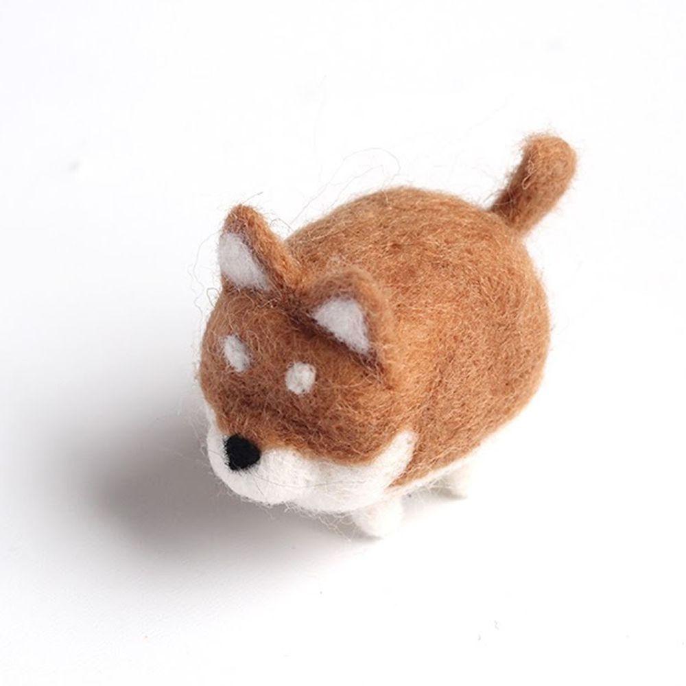 Diy寵物造型羊毛氈戳戳樂材料包-柴犬