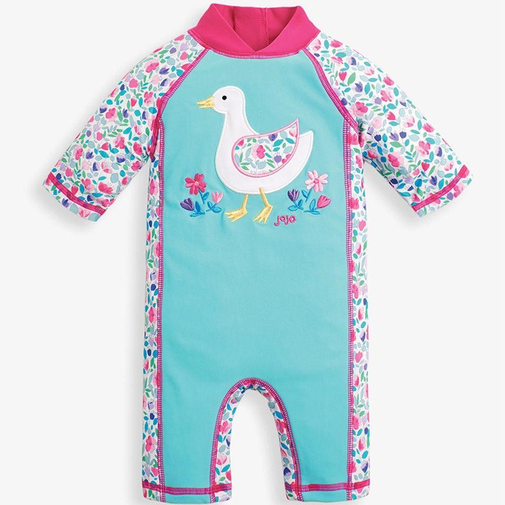 英國 JoJo Maman BeBe - 嬰幼兒/兒童連身式防曬泳裝
