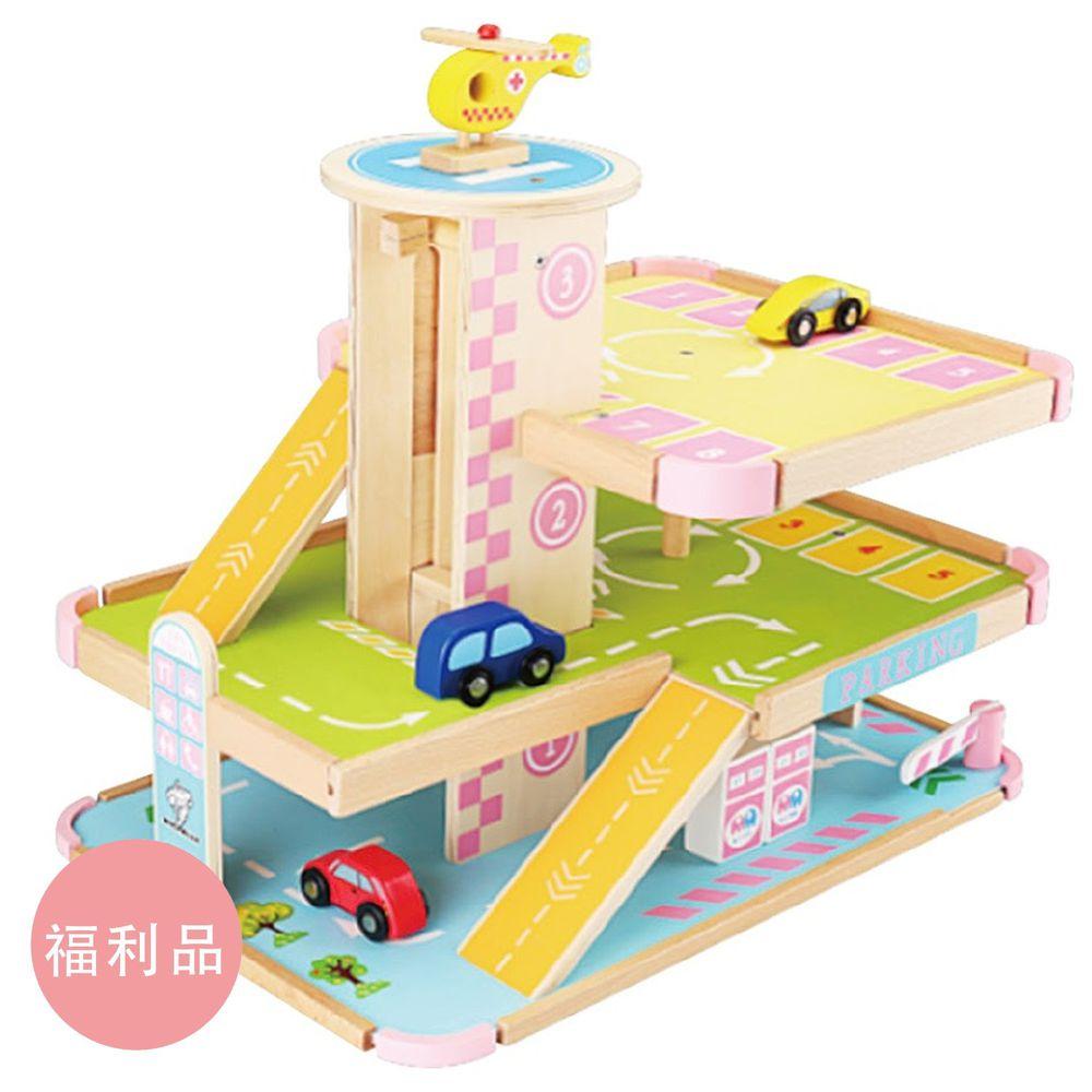 Ching Ching - 福利品-立體停車場木製玩具組 MSN15048