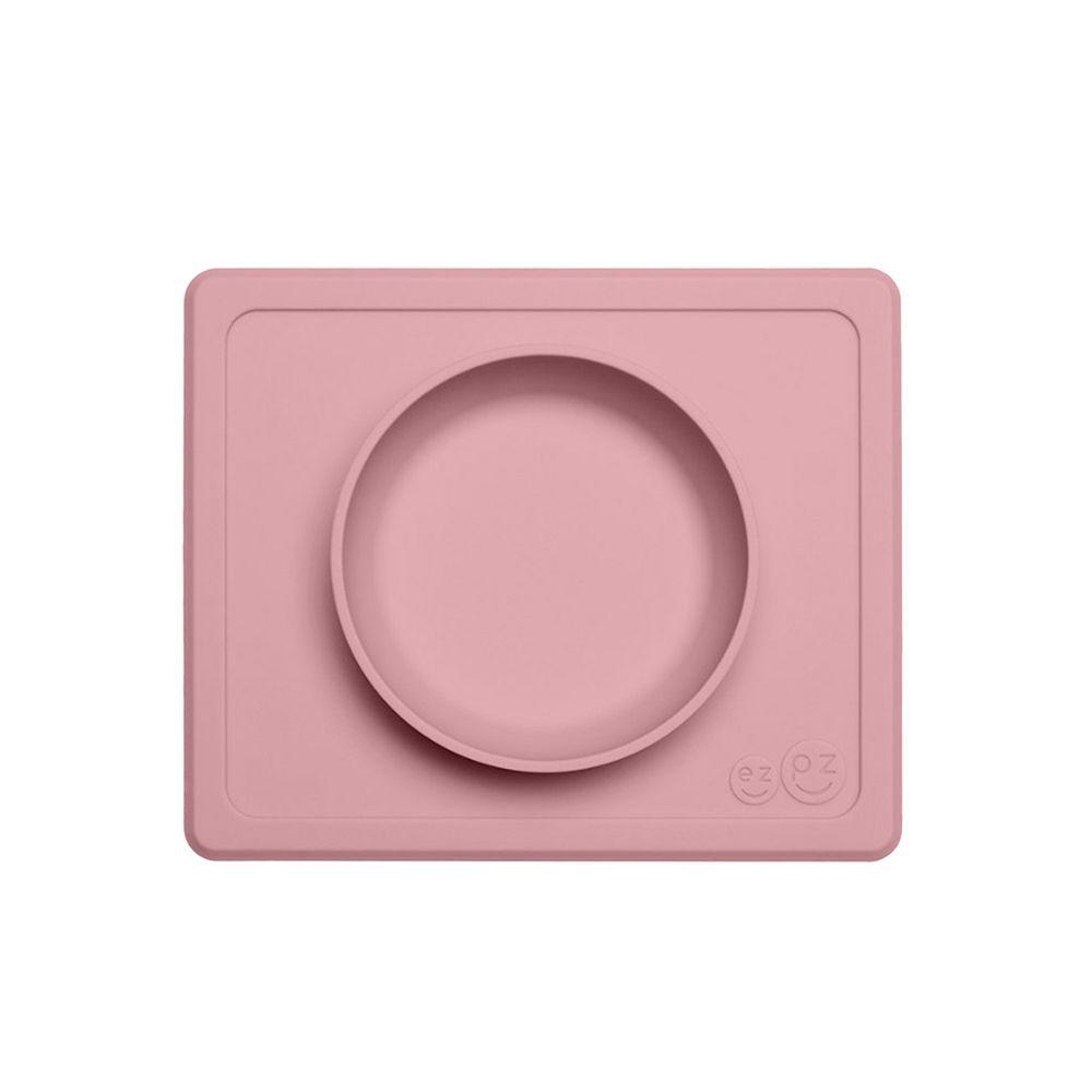 美國 ezpz - 快樂餐碗 Happy Mini bowl-迷你餐碗-玫瑰粉 (21.6cm*17.8cm*3.18)-240ml