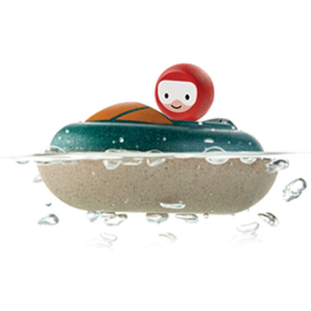 泰國 Plantoys - 木作水玩具-飆風快艇
