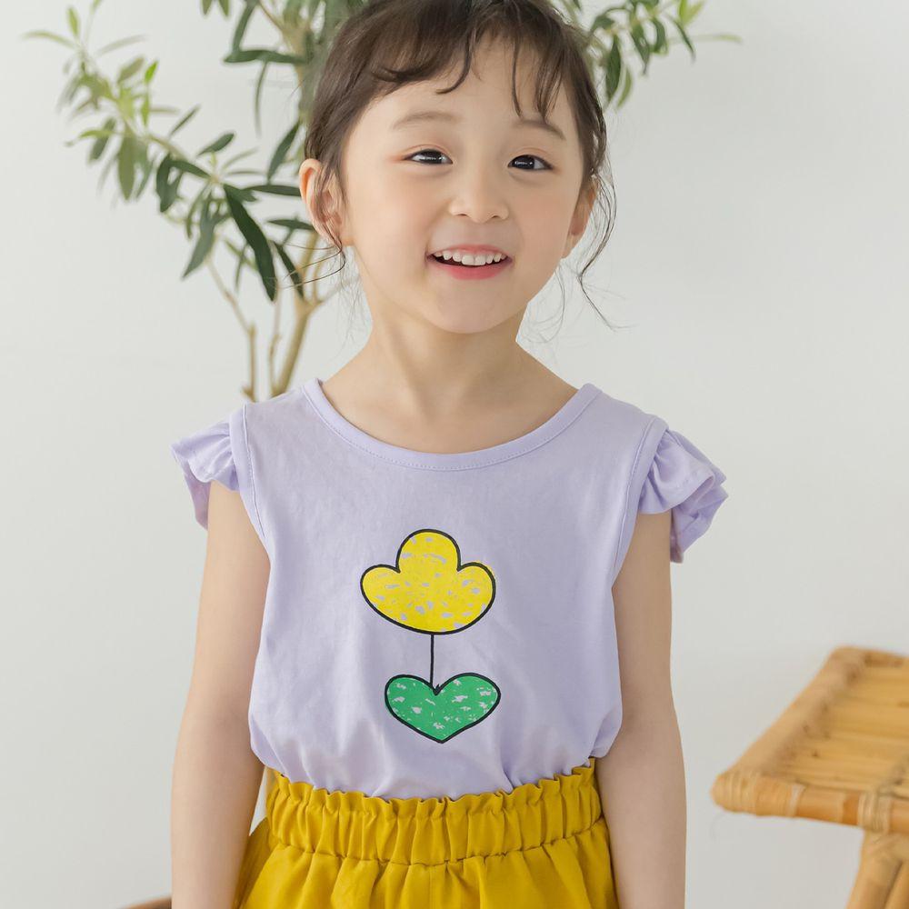 韓國 Orange Mom - 奇異鬱金香無袖上衣-紫