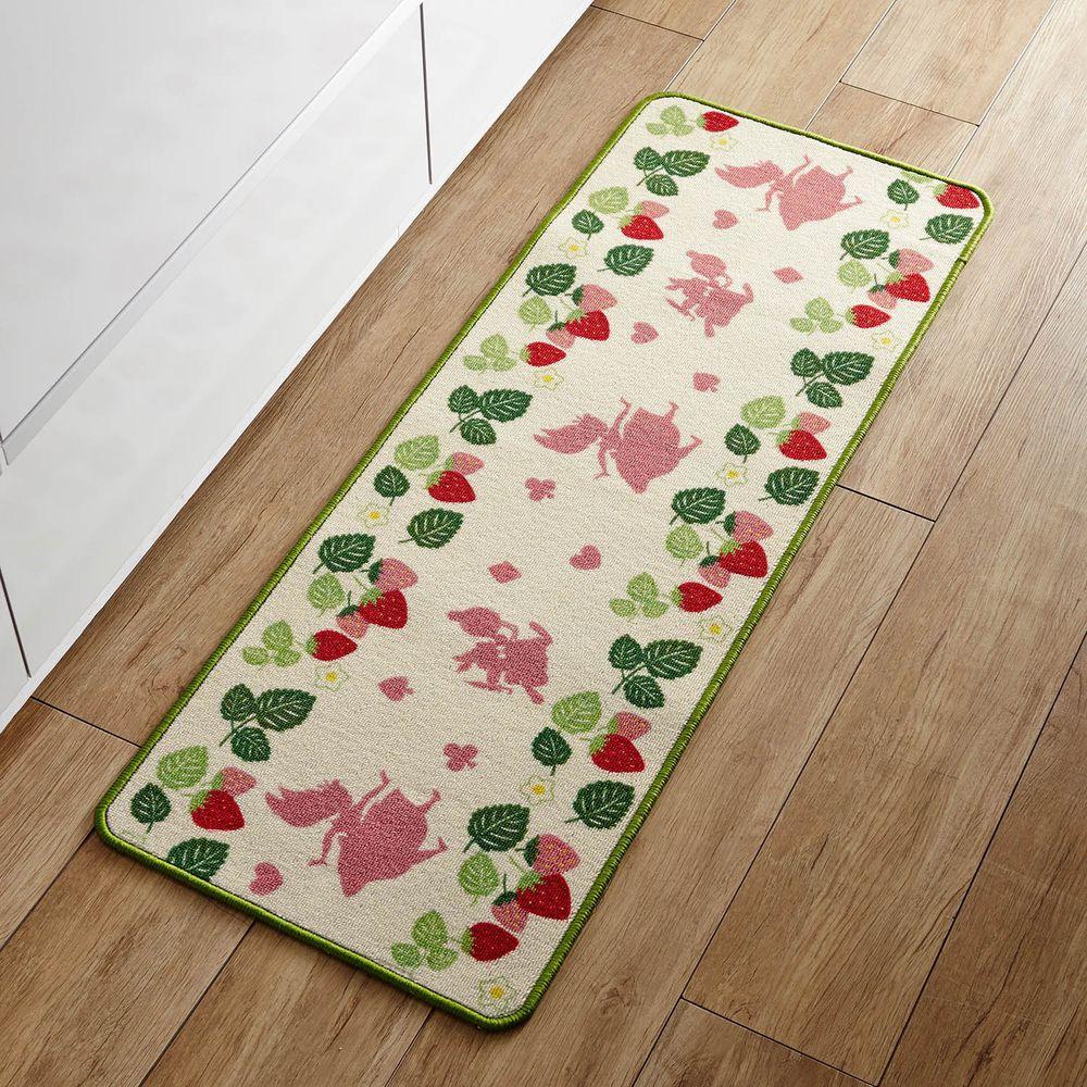 日本千趣會 - 迪士尼 長條型腳踏墊(廚房/臥室)-愛麗絲夢遊仙境