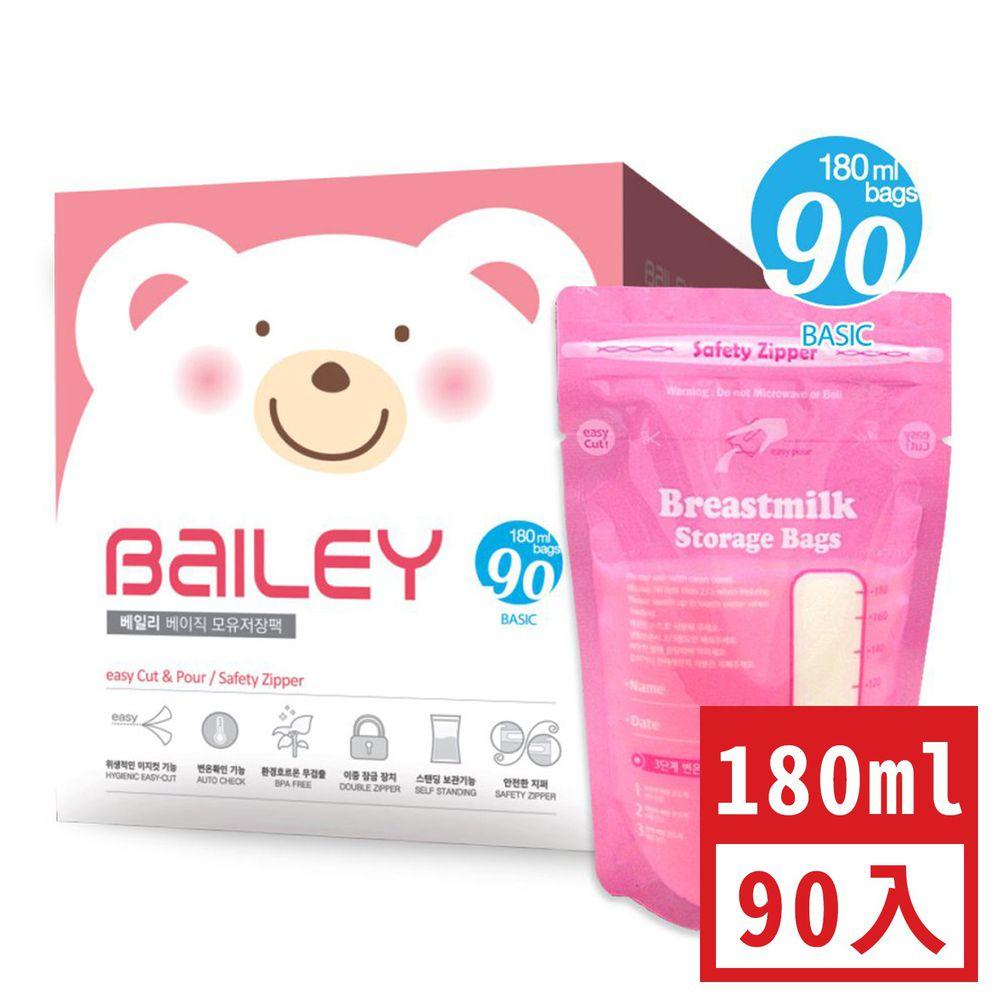 韓國 BAILEY 貝睿 - 感溫母乳儲存袋-基本型 (180ml)-90入