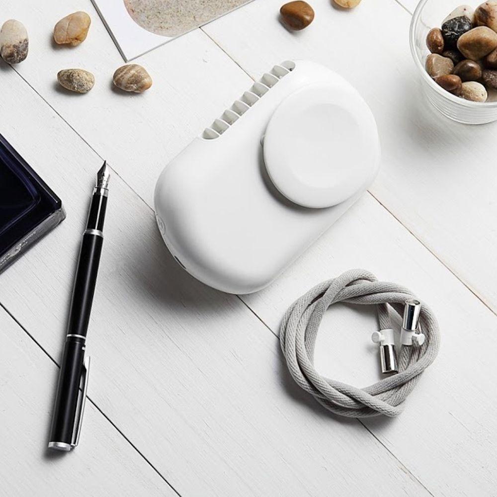 AIRMATE 艾美特 - USB日系掛脖/桌立充電風扇-牛奶白