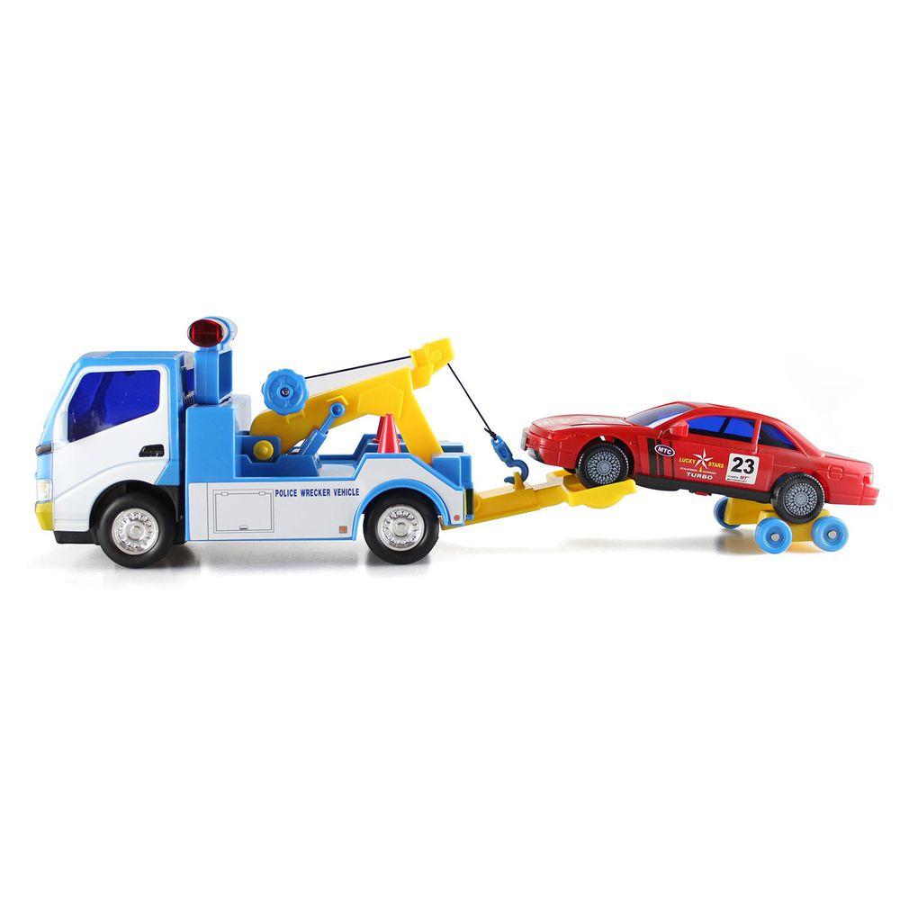 小小家 - 工程小車車-磨輪拖吊車 ((一台拖吊車+輔助輪+一台小車))