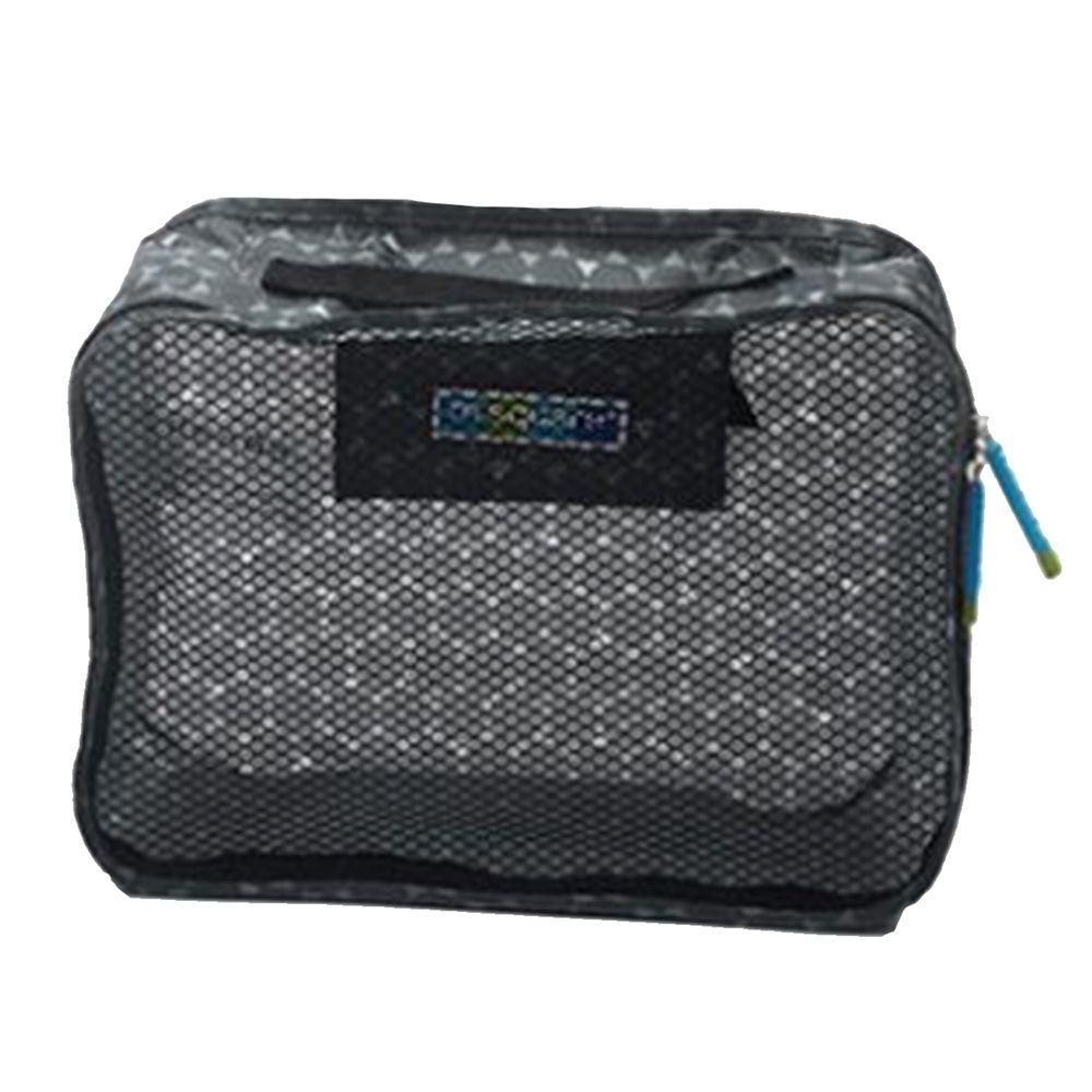 m square - 商旅系列Ⅱ折疊衣物袋S-灰色六角紋