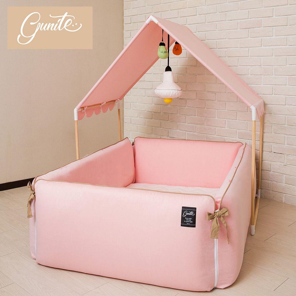 gunite - 沙發嬰兒床_安撫陪睡式0-6歲-全套組-巴黎粉