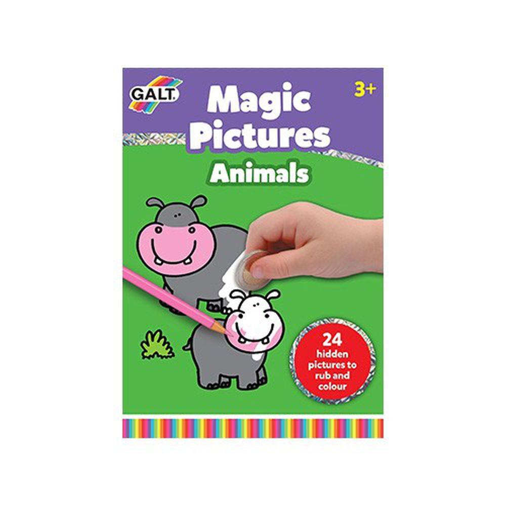 英國 GALT - 塗鴉刮刮樂-動物-封面隨機