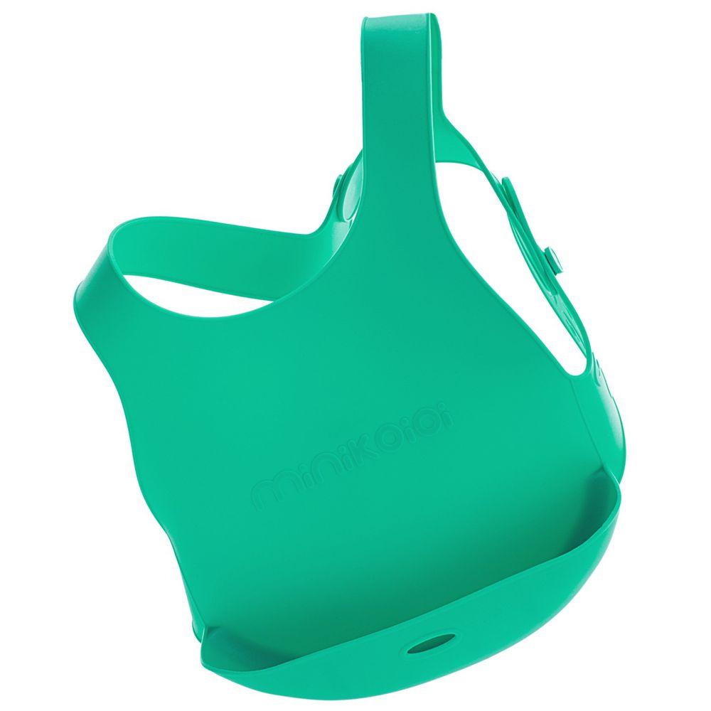 土耳其 minikoioi - X型立體矽膠圍兜-薄荷綠