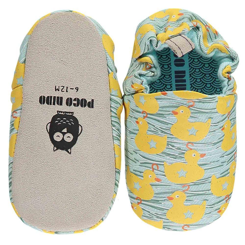 英國 Poconido - 寶寶手工鞋/學步鞋-游泳的小鴨