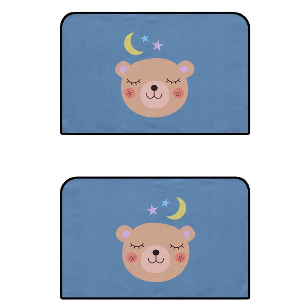 磁吸式汽車遮陽窗簾-美夢小熊-後側窗(2片裝)