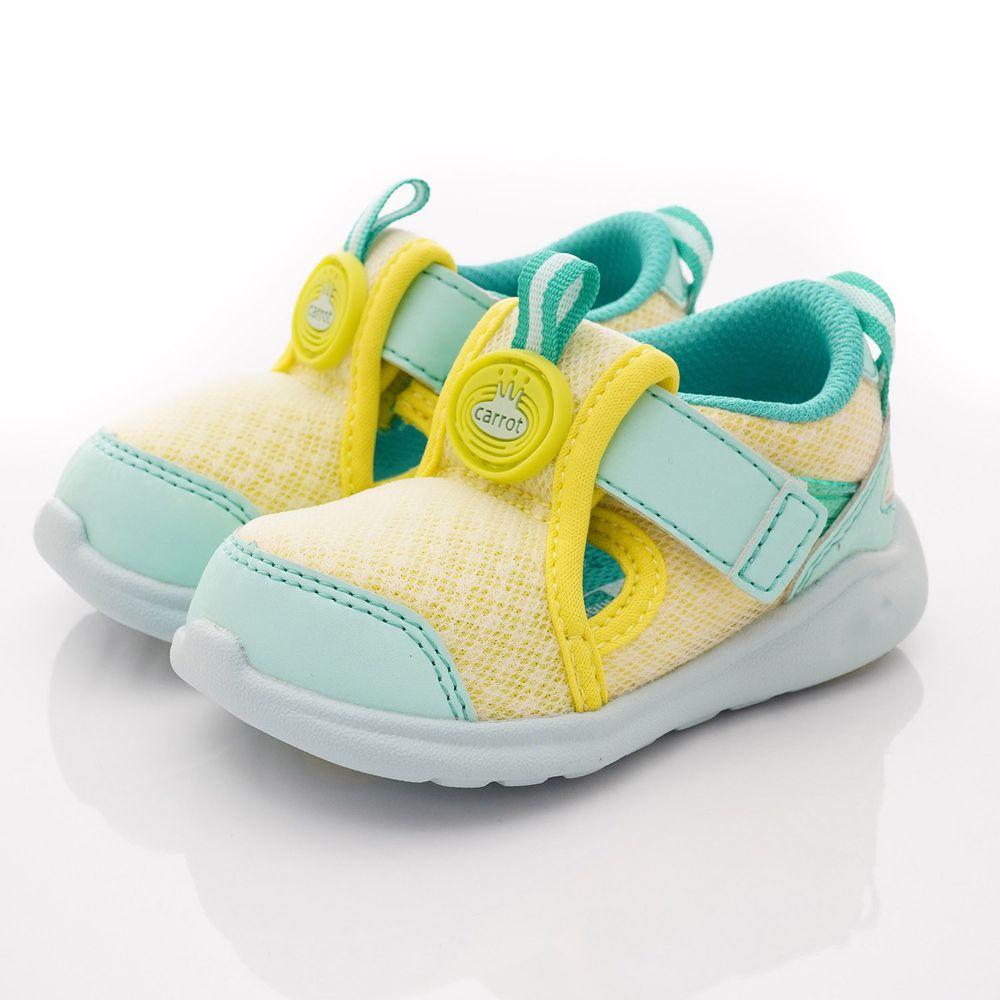 Moonstar日本月星 - 玩耍速乾可機洗學步鞋款(寶寶段)-黃綠
