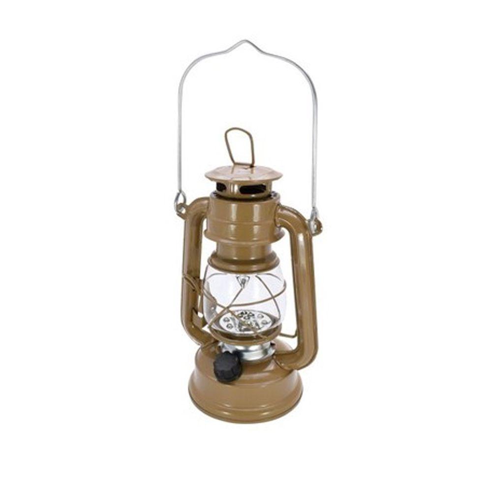 日本丸和 - 復古煤油燈造型LED露營燈-摩卡咖 (12x9.5x21cm(含提把27cm))