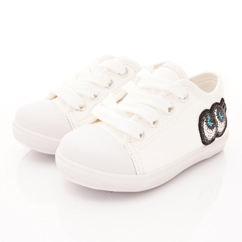 PV日式私藏 - 專櫃童鞋-大眼睛時尚休閒鞋款(小童段)-白