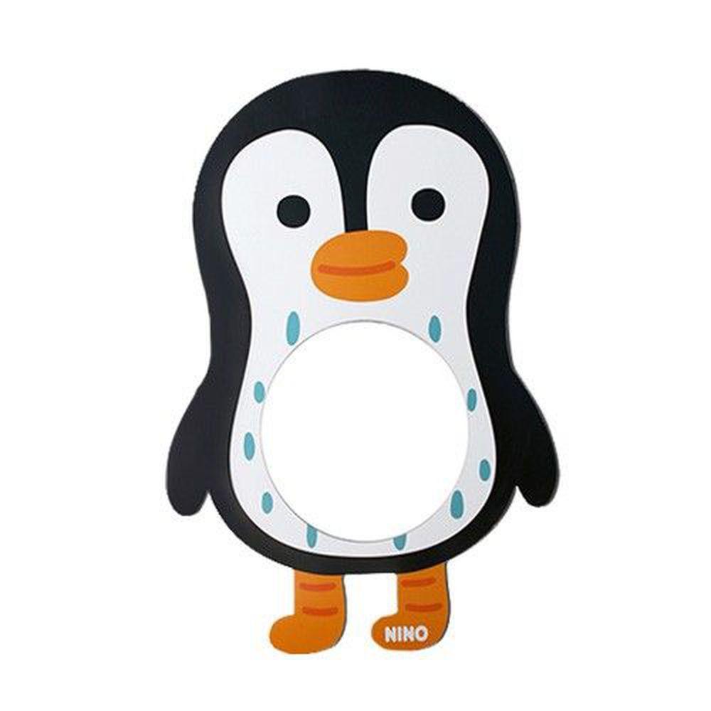 韓國 NINO - 兒童彩繪壁貼鏡-QQ酷企鵝 (42*63cm)