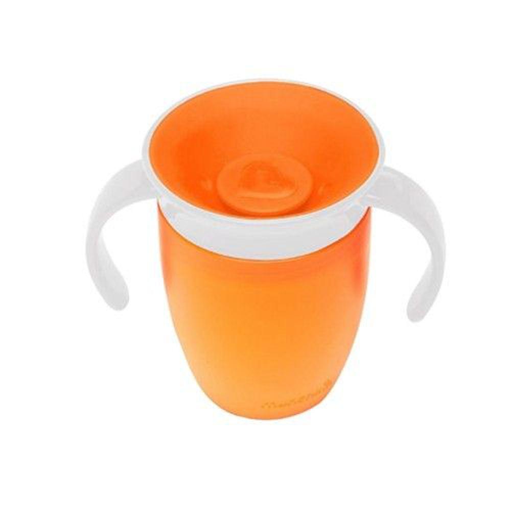 美國 munchkin - 360度防漏練習杯207ml-橘 (6M+)
