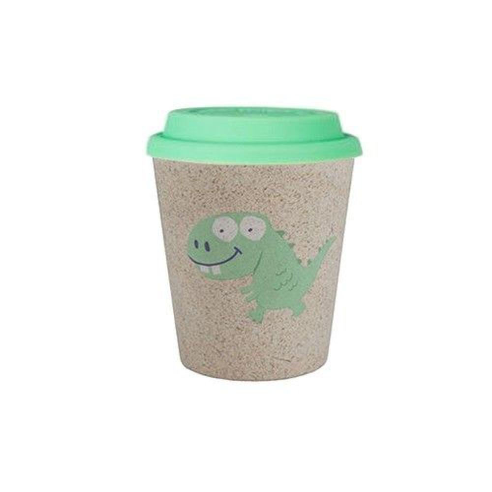 澳洲 Jack N' Jill - 漱口杯+綠色杯蓋-恐龍