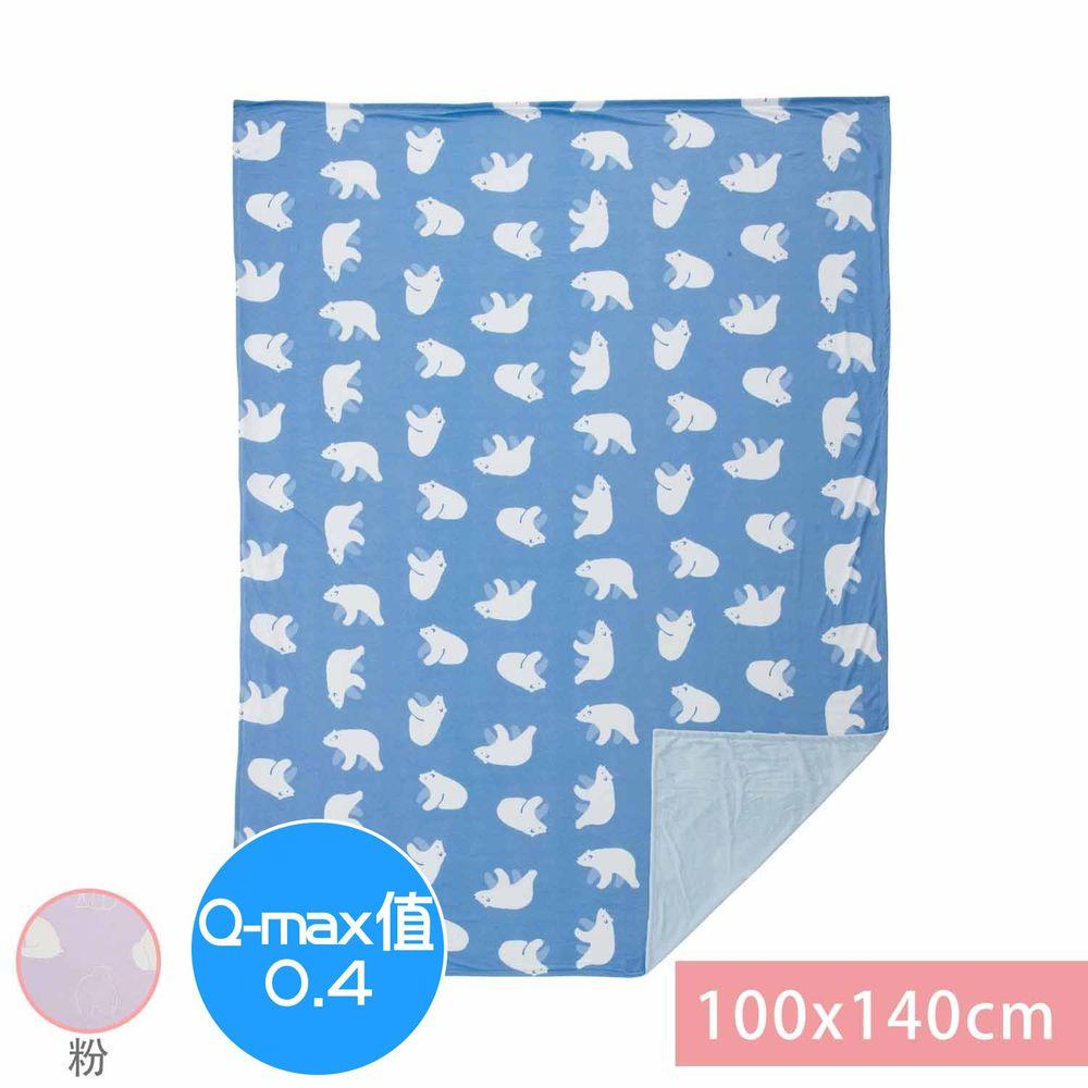 日本小泉 - 節電對策冷感薄毯-北極熊20-粉紅 (100x140cm)