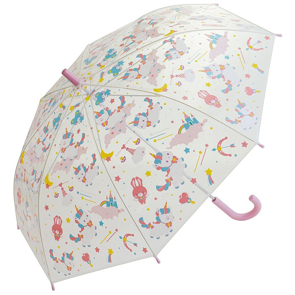 日本 SKATER 代購 - 兒童透明直傘-粉嫩獨角獸 (55cm(130cm以上))