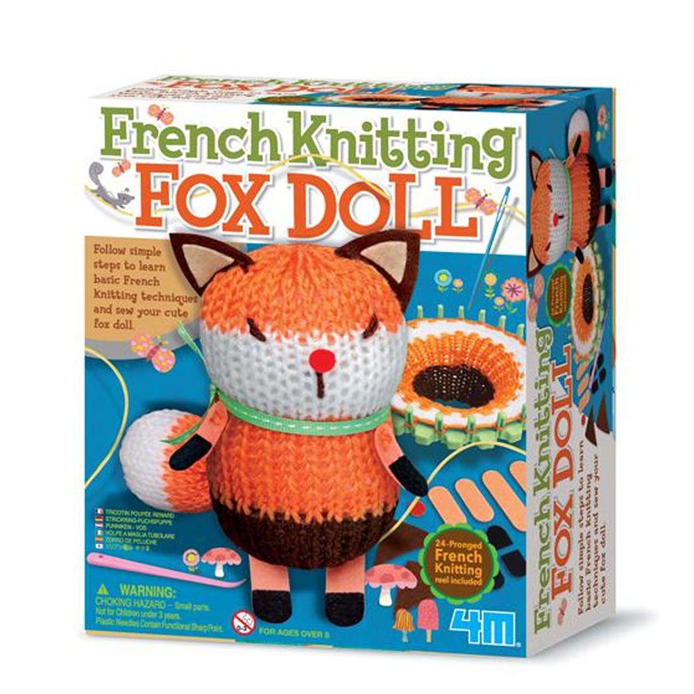 香港4M創意玩具 - 編織小狐狸娃娃 French Knitting Fox