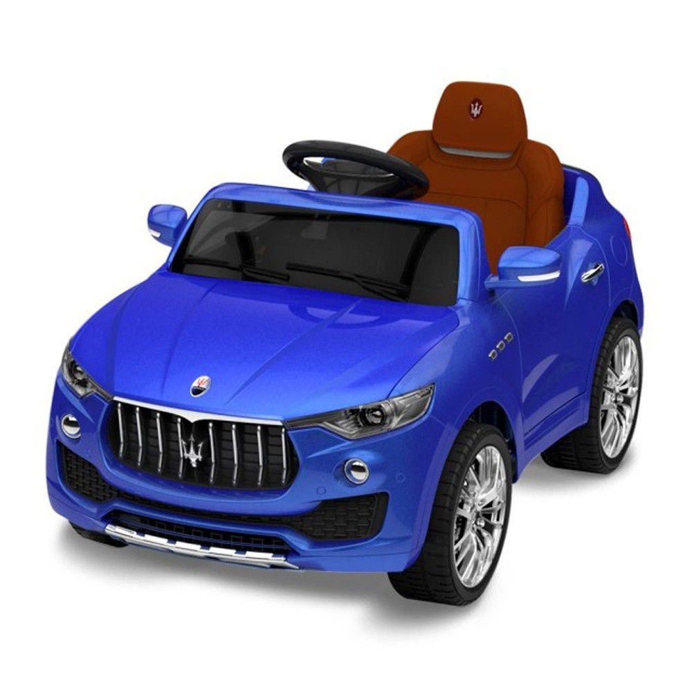Kikimmy - 正版授權瑪莎拉蒂電動車-12/20出貨-藍 (56x52x98cm)