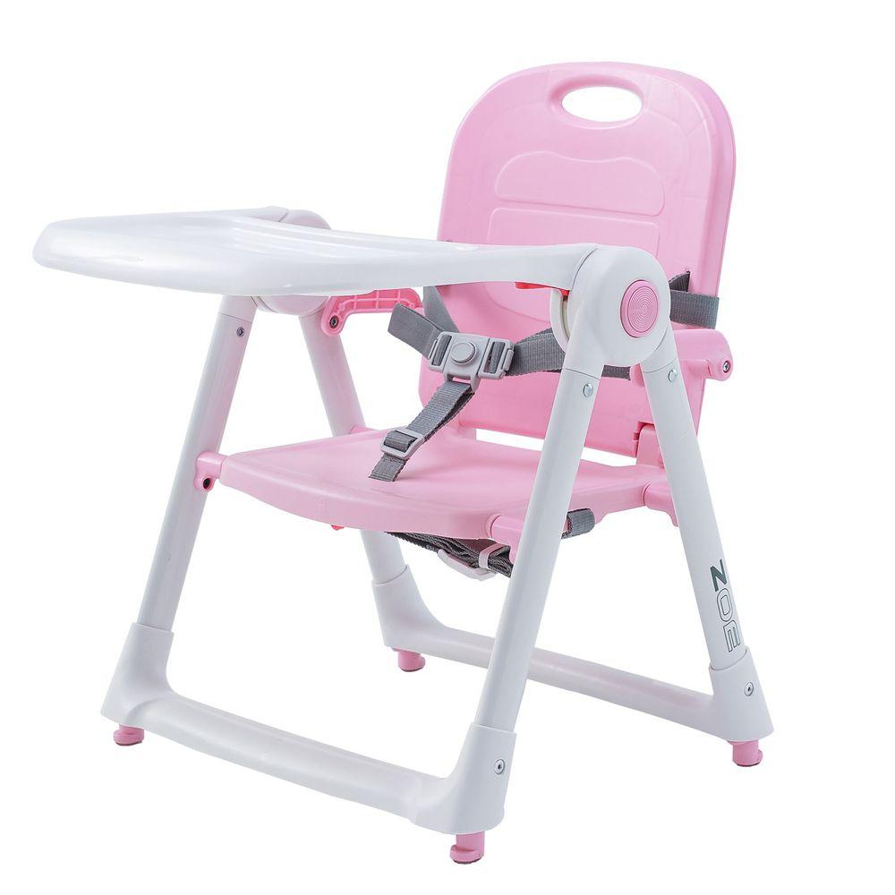 美國 ZOE - 可攜式折疊兒童餐椅-櫻花粉