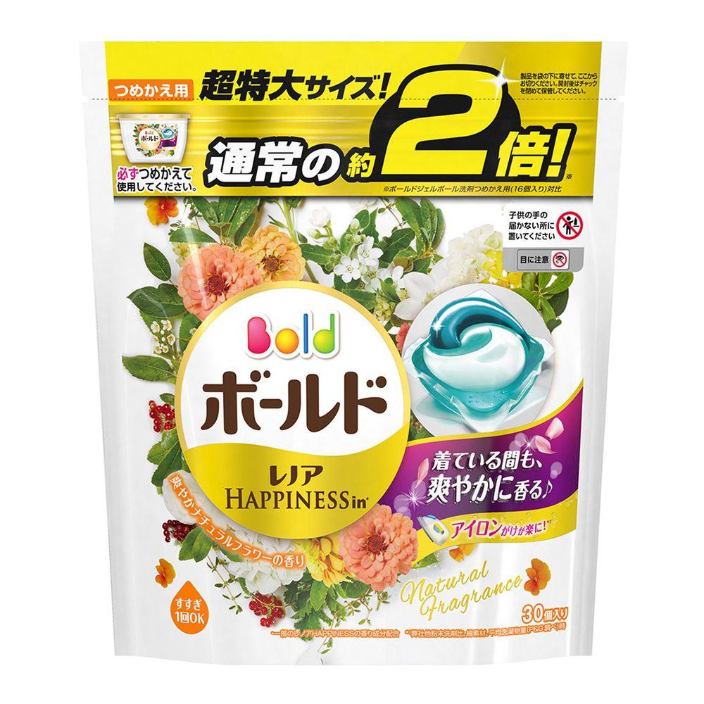 日本 P&G - 洗衣果凍膠囊補充包2倍-自然杏花清新香氛 (30入)-588g