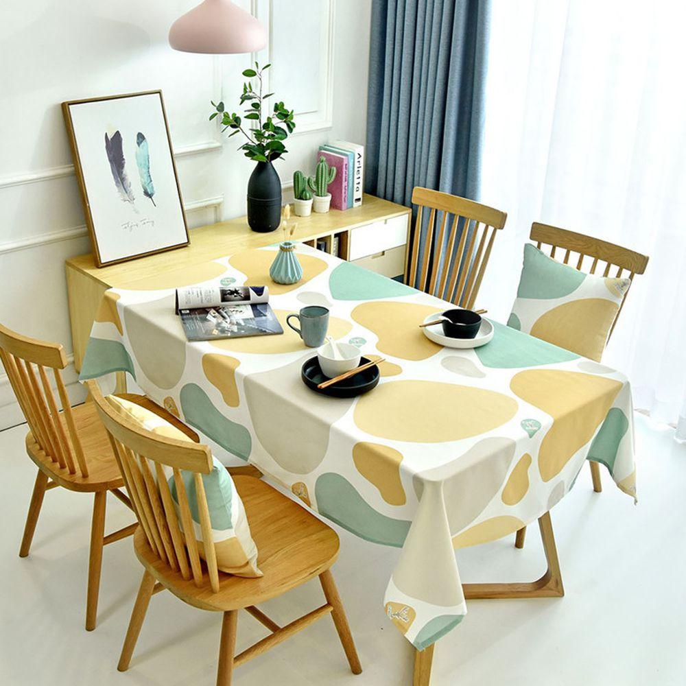 防水防油免洗桌布-彩色石頭-黃色