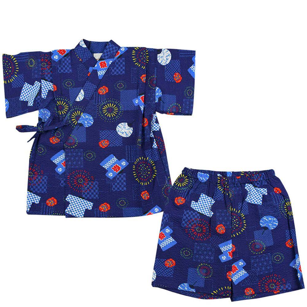 akachan honpo - 兩件式甚平-祭典-深藍色
