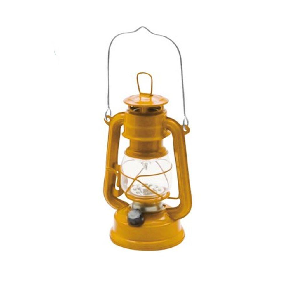 日本丸和 - 復古煤油燈造型LED露營燈-芥末黃 (12x10x21cm(含提把27cm))