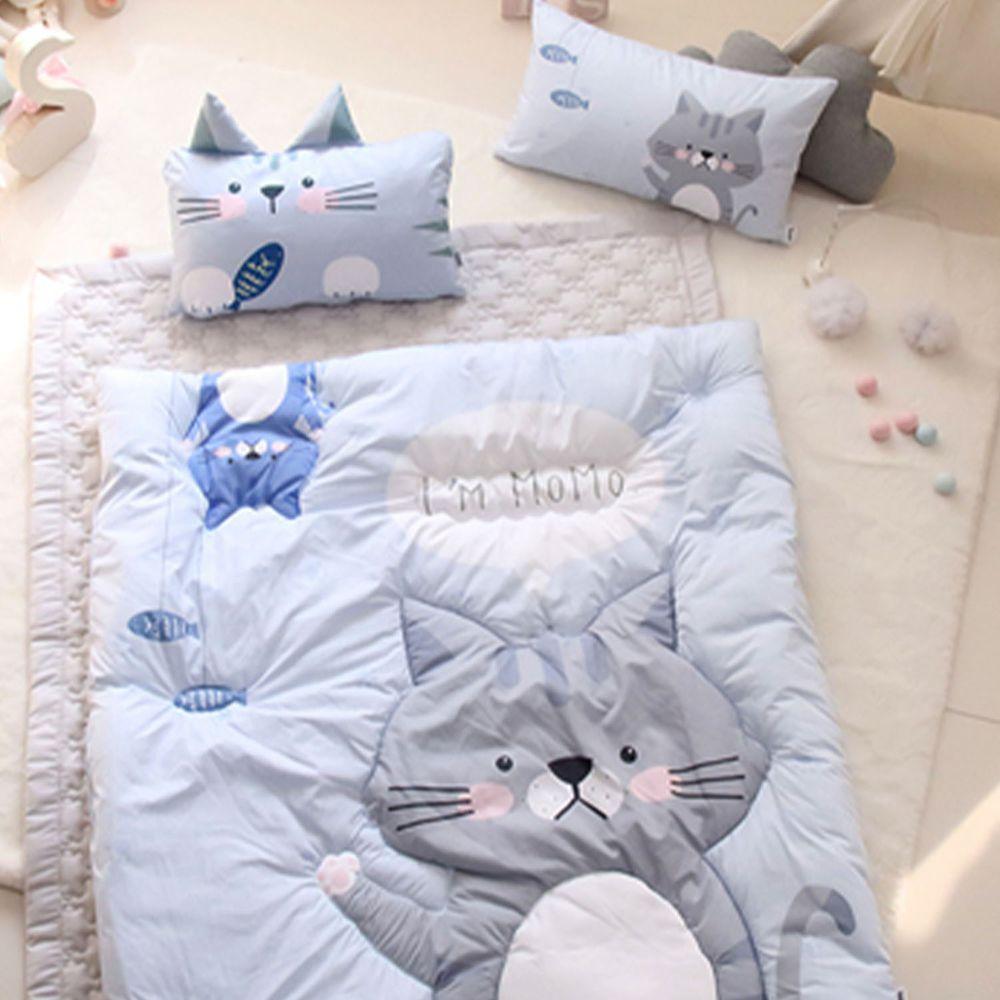 韓國 Teepee - 四季用睡袋/寢具7件組(無拉鏈)(附收納袋)-害羞小貓咪