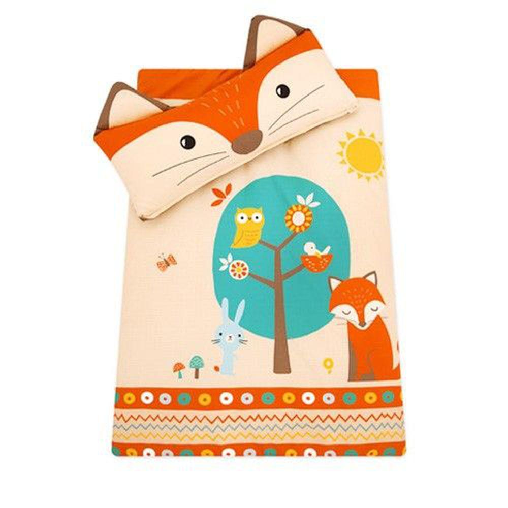韓國 Bonitabebe - 可愛動物造型睡袋-橘色小狐狸-附防塵保管袋