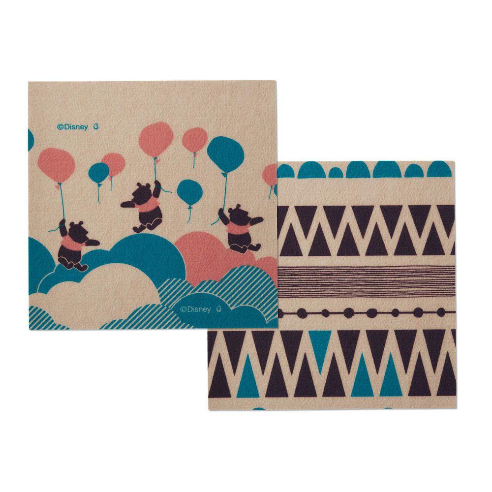 日本千趣會 - 迪士尼 日本製室內輕薄地毯(可機洗)-維尼氣球B (30x30cm)-各色2枚(共6枚)