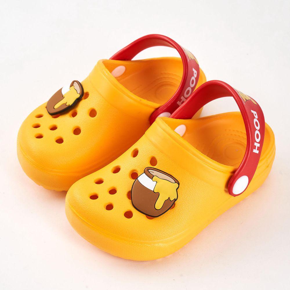 akachan honpo - 維尼立體造型洞洞涼鞋-黃色