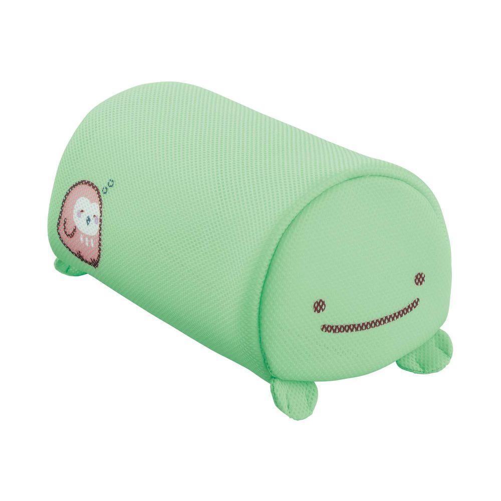 日本千趣會 - 角落生物 日本製圓筒洗衣網/衣物收納袋-真蜥蜴與貓頭鷹-綠 (16x26x14cm)