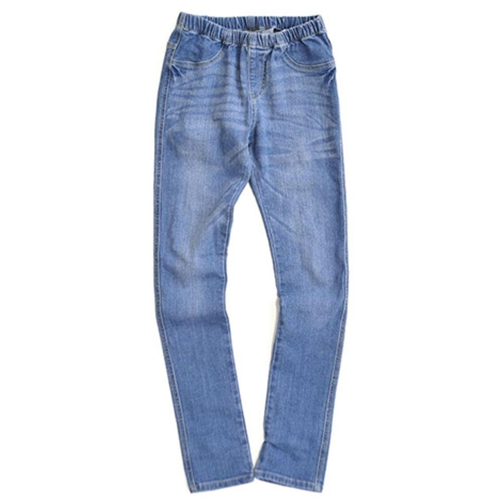 日本 zootie - 顯瘦美腿 個性丹寧窄管牛仔褲-水洗亮藍