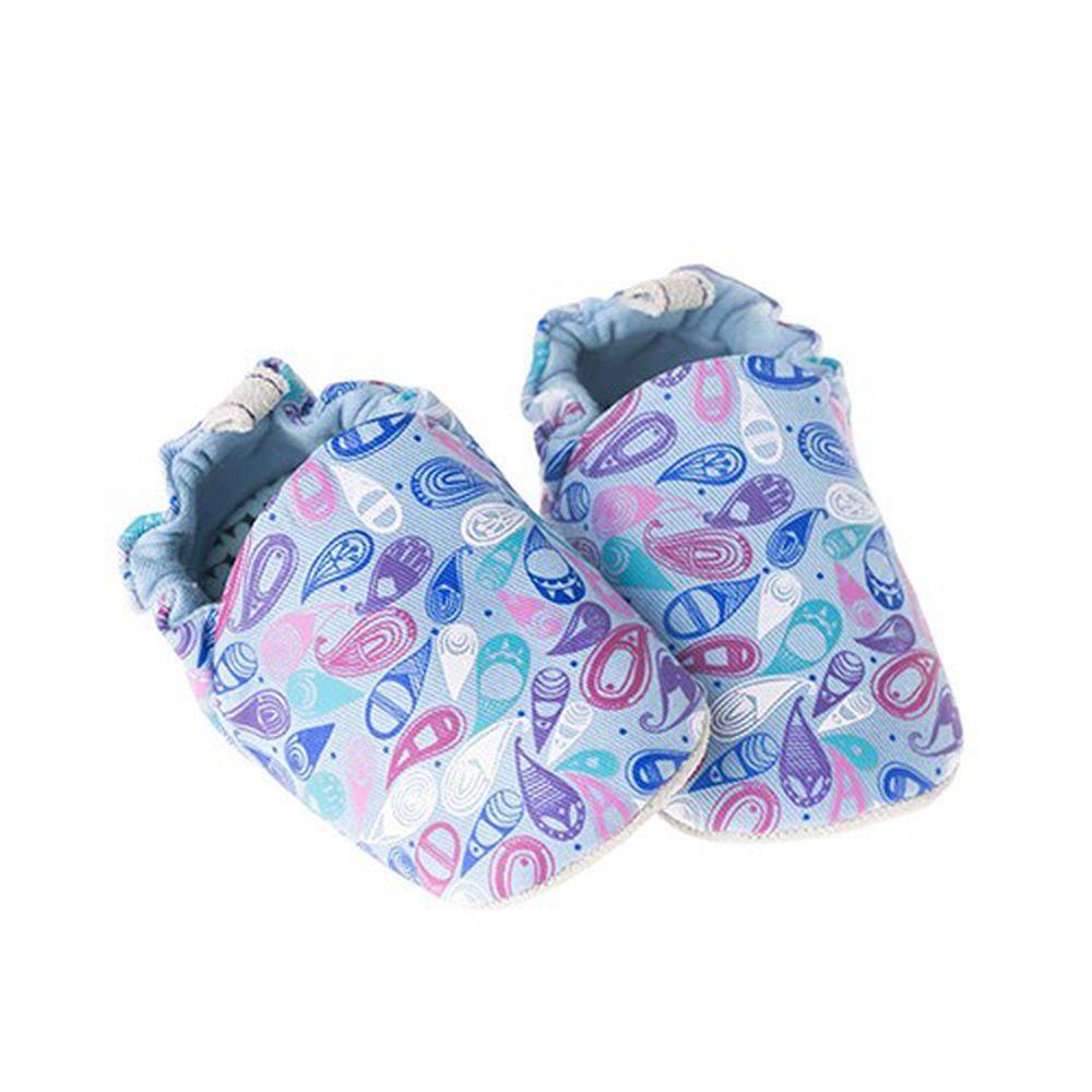 英國 Poconido - 寶寶手工鞋/學步鞋-佩斯利小花