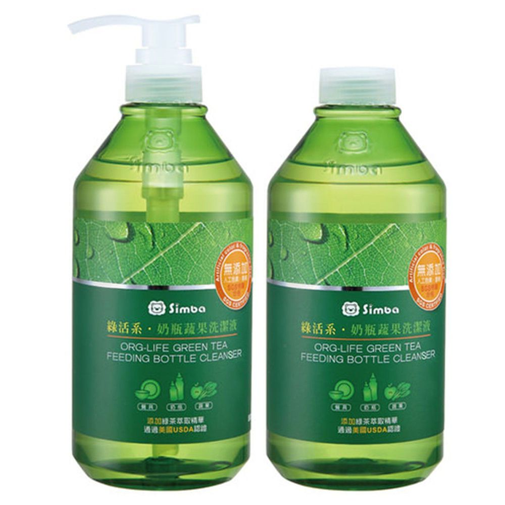Simba 小獅王辛巴 - 綠活系奶瓶蔬果洗潔液-超值2入組-800mlx2