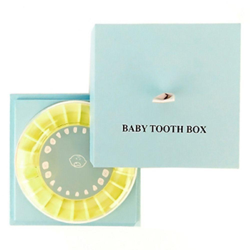 韓國 Mellow - 乳牙保存盒-藍
