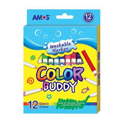 12色細頭可水洗彩色筆