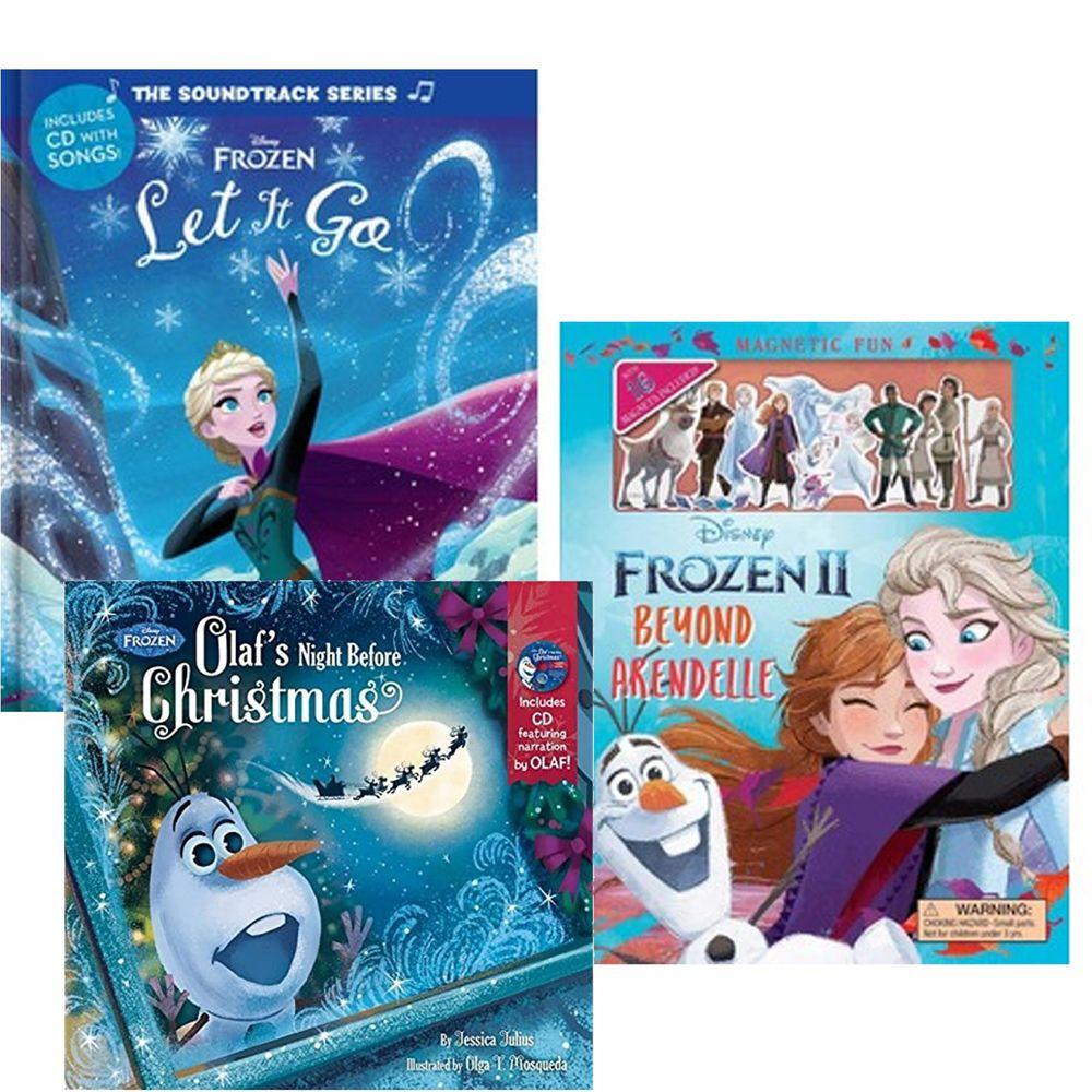 Kidschool - 【合購組】冰雪奇緣原聲歌曲書(附CD)+冰雪奇緣2:艾倫戴爾之外(磁鐵書)+冰雪奇緣:雪寶的平安夜