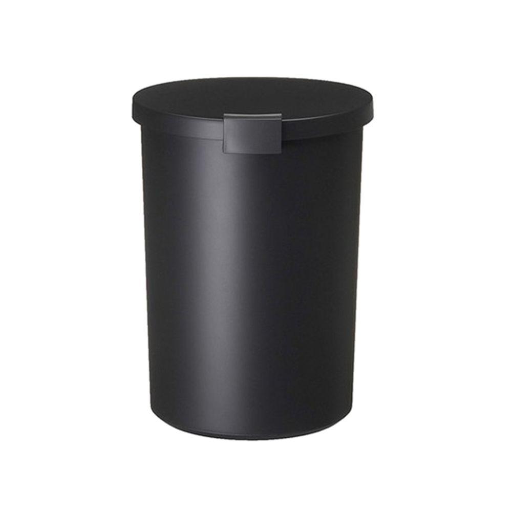 日本岩谷Iwatani - 日本製圓形可分類密封防臭垃圾桶-12.4L-黑