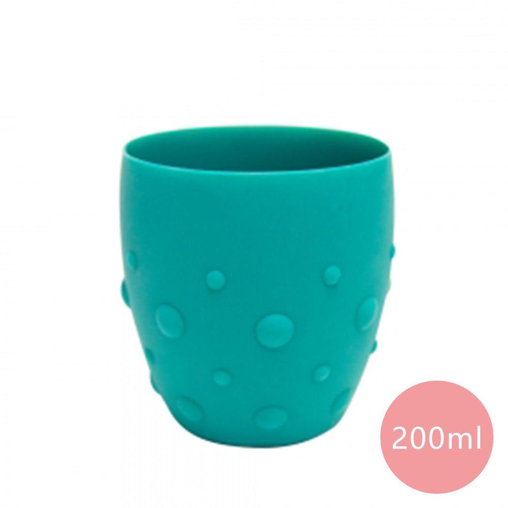 MARCUS&MARCUS - 動物樂園矽膠防滑學習杯-綠色-200ml