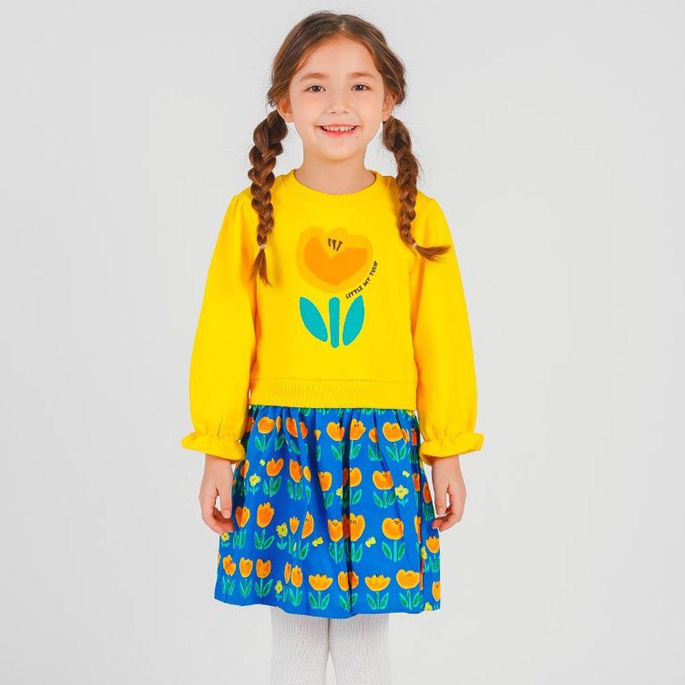 韓國 OZKIZ - 橘黃鬱金香洋裝
