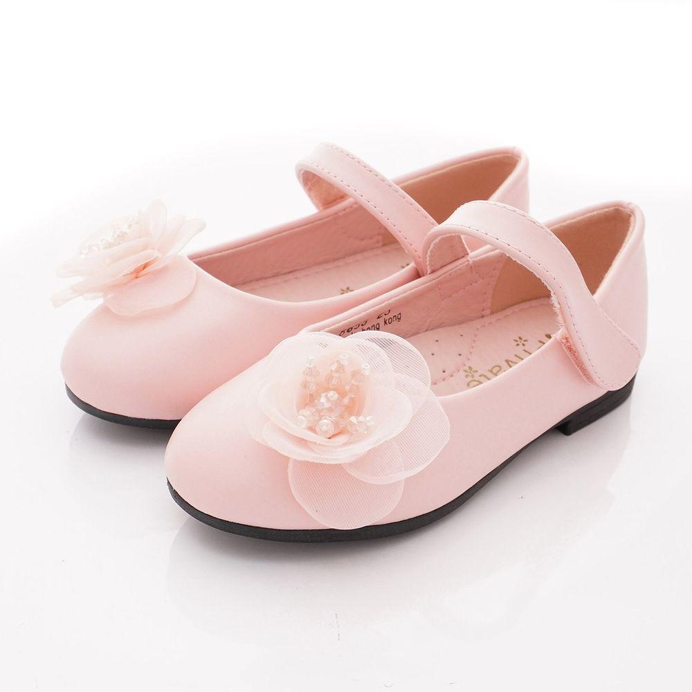 PV日式私藏 - 專櫃童鞋-蕾絲花漾公主鞋款(中小童段)-粉紅